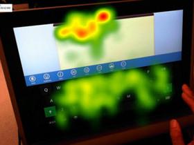 眼球追蹤+熱點圖研究,Windows 8 的觸控鍵盤是這樣設計出來的!