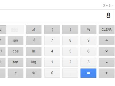 34顆按鈕、真正的 Google 計算機來了!搜尋算式的結果就會出現