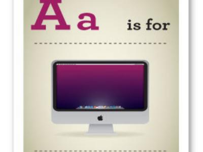 A is for Apple!科技宅父母專用、教小孩的英文生字字母表