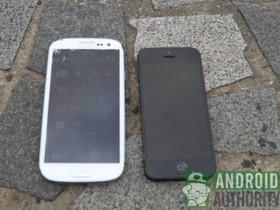 iPhone 5 vs. Galaxy S3 摔落測試,看看誰最耐操!