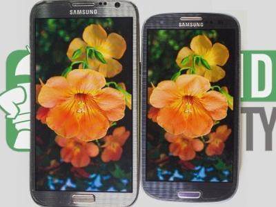 Galaxy Note 2 vs. Galaxy S3 螢幕顯示比較,S-Stripe RGB 與 Pentile 排列的差異?