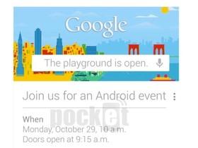 Google 在10月29日舉辦 Android 發表會,將推出 Nexus 系列新品?