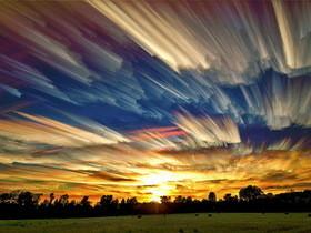 Photoshop 重複堆壘雲朵,自製攝影油畫效果