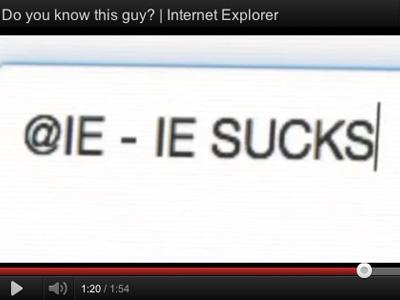 IE 很爛嗎?微軟推出「IE Sucks」反諷影片宣傳 IE10