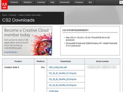 Adobe 免費送 Adobe CS2 Premium 專業版序號,原來是烏龍一場