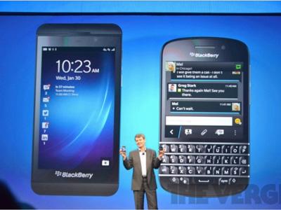 RIM 公司宣布改名為 BlackBerry,並推出 BlackBerry 10 新機 Z10 、Q10