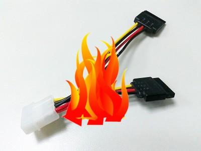 火燒事件不斷,當心 SATA 電源轉接線讓電腦也燒起來