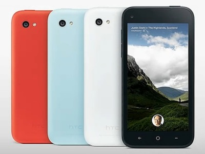 第一款內建 Facebook Home 的 HTC first 發表,4月 12日開賣