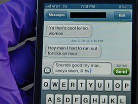 車禍身亡學生未發出的最後簡訊畫面,提醒大眾開車使用手機的危險
