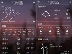 Yahoo! 氣象 App:每小時預報、超漂亮圖示和 Flickr 桌布登場