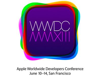 WWDC 2013 將在 6 月 10 日登場,iOS 7、下一代 OS X 將發表