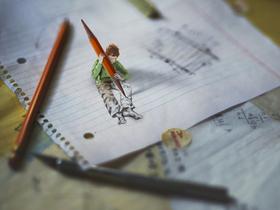 超現實微距自拍寫真,14歲攝影師 fiddle oak 的創意之作