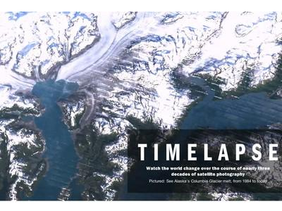 冰河消退、湖水乾凅,Google Timelapse 帶你目睹 1984 年以來的地球變化