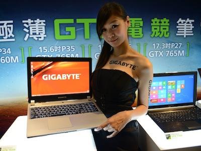 Computex 2013:Gigabyte P35K、P34G 極薄遊戲筆電登場