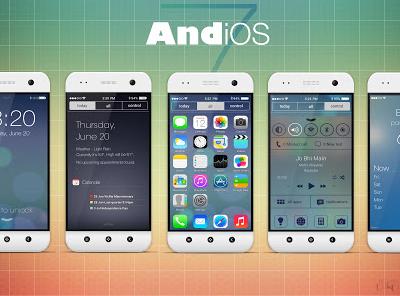 搶先體驗 iOS7 介面...在你的 Android 手機上:AndiOS7 Theme