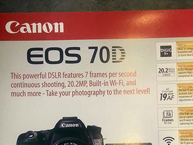 Canon EOD 70D 將於7月2日正式發表?宣傳單規格表網上流出