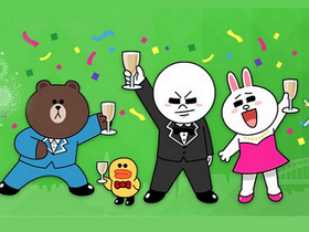 LINE 全球突破 2 億用戶,熊大等眾多貼圖限時免費放送!