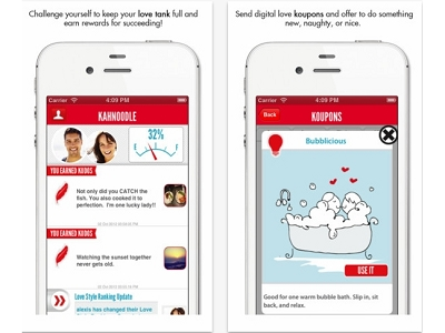 Kahnoodle App:讓你經營愛情,像遊戲一樣破關積點數