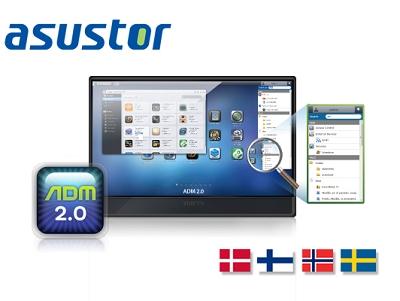 華芸科技宣布 ASUSTOR NAS 作業系統 ADM 新增北歐四國語系