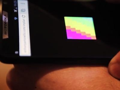 肉眼看不到,智慧手機才能顯示的「數位刺青」