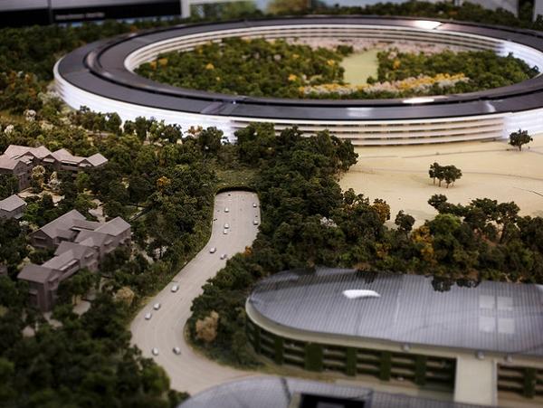 Apple 太空飛船新總部模型曝光!