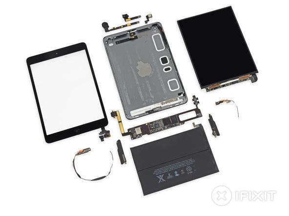 iPad mini Retina 拆解完成,螢幕來自於 LG