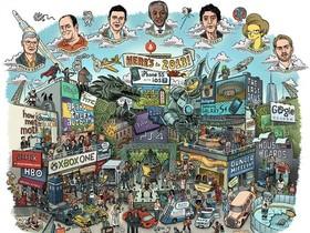 Apple、HTC、Samsung 都入列,卡漫風回顧 2013 年度大事件