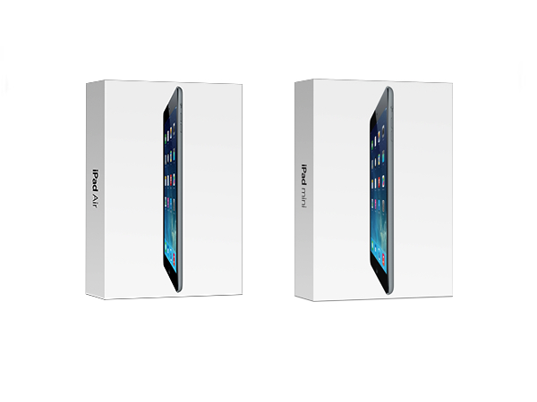 iPad Air 與 iPad mini Retina 正式開賣,新台幣 12,900 元起跳