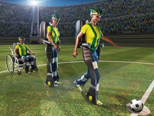 2014年世界杯第一球也許將由下肢癱瘓的青少年透過高科技骨骼踢出