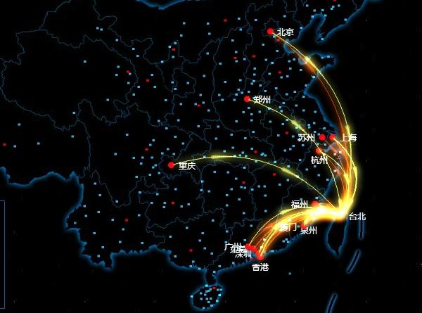 大數據直播中國春運流量 | T客邦