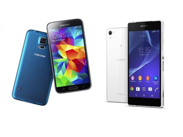 MWC 機王對決,Galaxy S5 vs. Xperia Z2