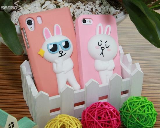 立體版兔兔來襲!超可愛 LINE FRIENDS 品牌限量手機保護殼,還可以自己換公仔!