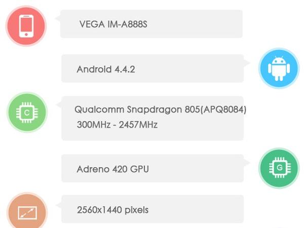 Snapdragon 805 處理器、2K 螢幕,Pantech 高階手機 AnTuTu 跑分曝光