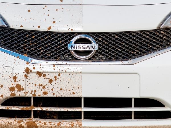 不用洗車了,Nissan 測試新的撥水防污塗料