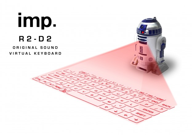 Runa 推出星際大戰 R2D2 機器人投影鍵盤