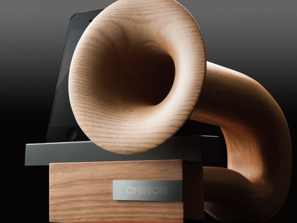 蓋高尚的木質 iPhone 專用喇叭  Chinon Legato