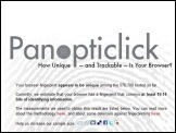 Panopticlick測試報告:關掉Cookie我還認得你