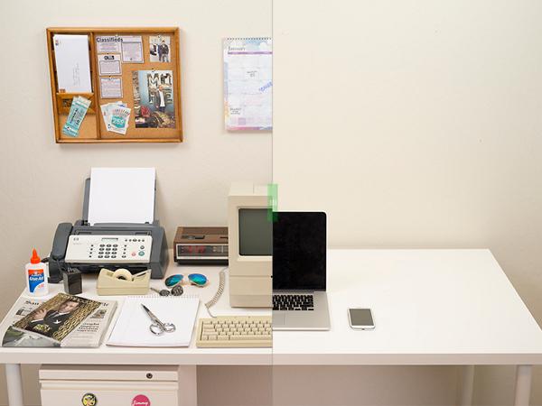 35年來,科技怎麼樣改變了辦公室桌面的樣貌?