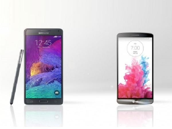 韓系旗艦機比一比,Samsung Galaxy Note 4 v.s. LG G3