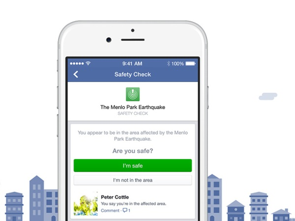 Facebook 推出 Safety check 功能,天災人禍隨時報平安