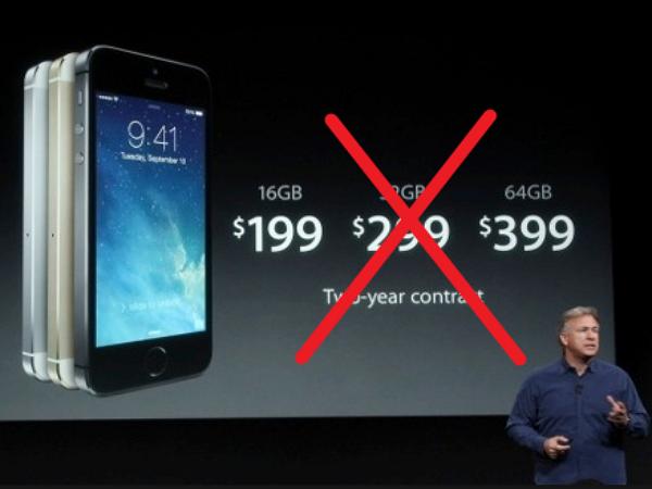 蘋果為什麼選擇「遺忘」32GB?