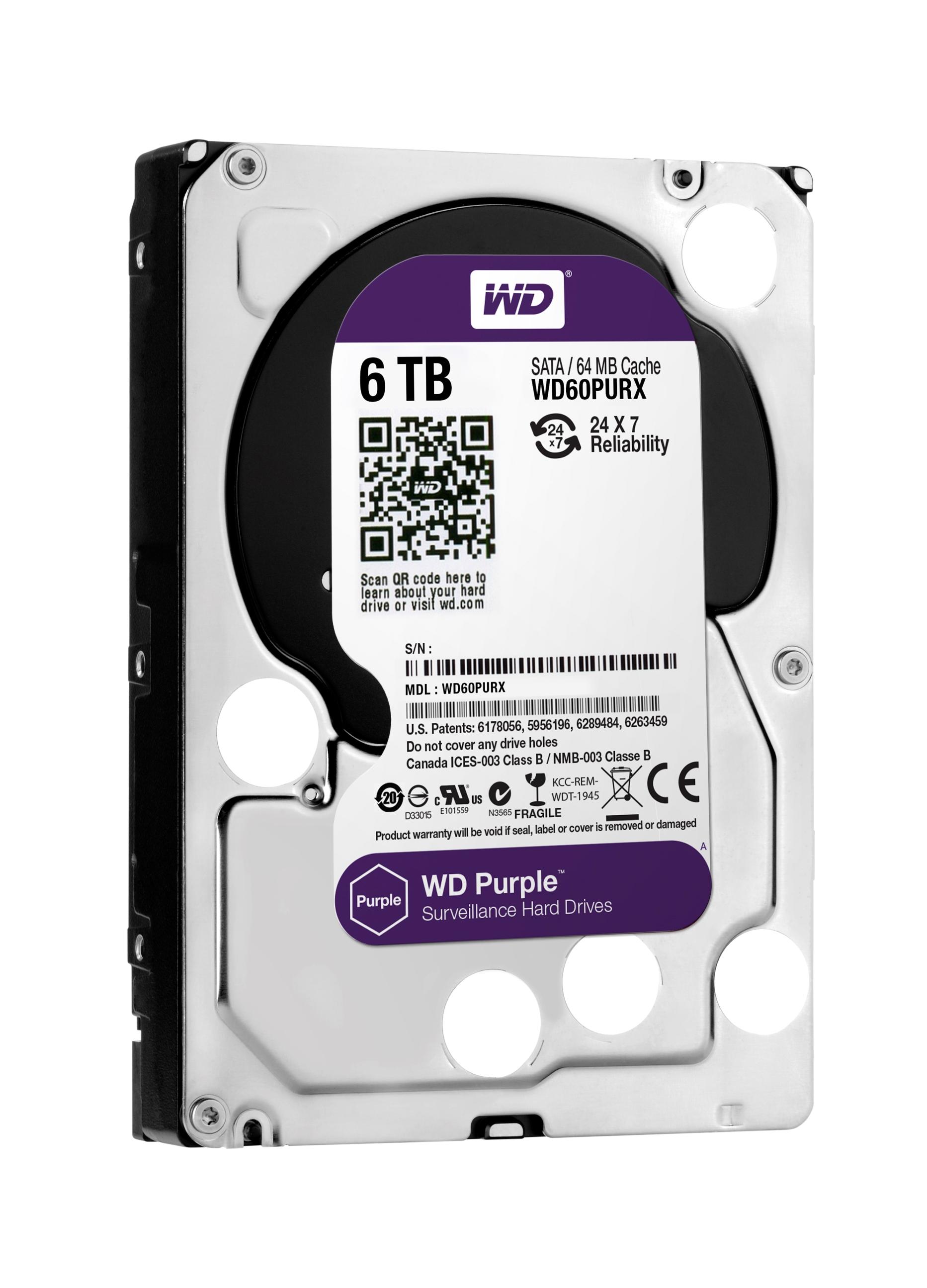WD®擴展監控系統級硬碟系列 WD Purple™推出6 TB高容量主攻物聯網「霧端」監控環境