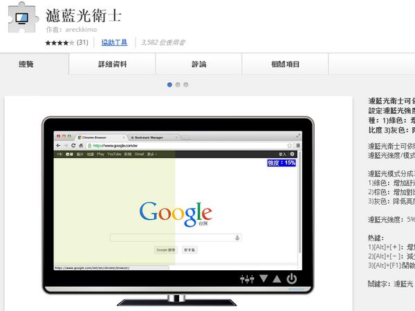 看多了網頁眼睛吃力?靠Chrome瀏覽器也能濾藍光保護視力