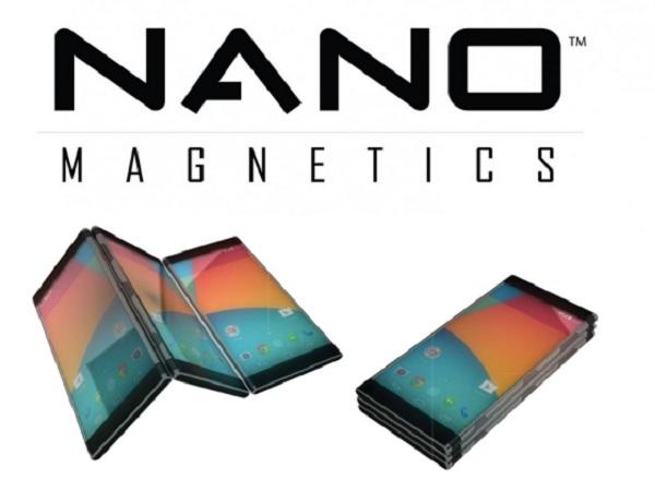 超神奇!手機上裝Nanoport 磁性接環,三台手機拼成一台平板