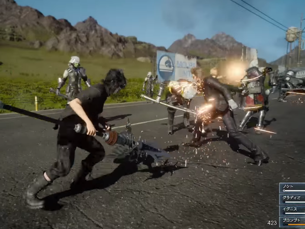 《Final Fantasy XV》頭目戰與實機遊玩畫面曝光,女性整備士Cidney登場