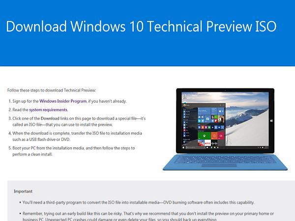 Windows 10 一月預覽版現在開放下載,而且終於有繁體中文版可裝(附載點) | T客邦