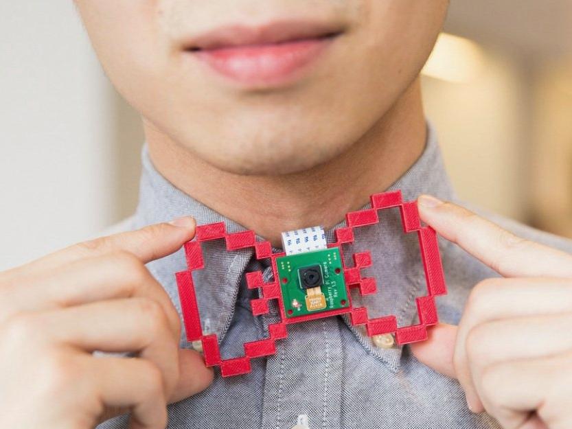 樹莓派新玩法,這個3D列印領結其實是個偷拍神器