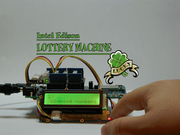 Intel Edison 開發板自製樂透選號機