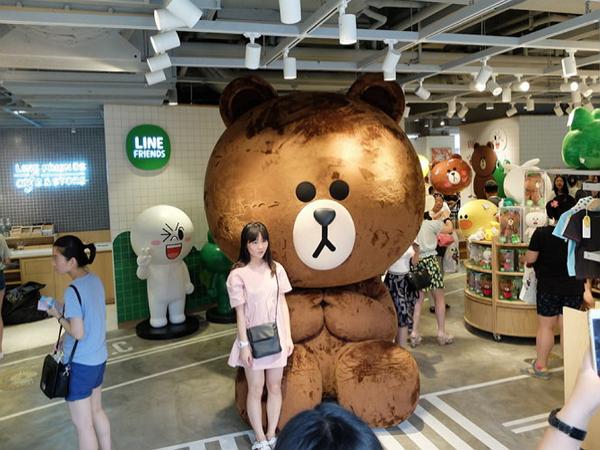 LINE在中國被封鎖後,靠著熊大在上海開了間咖啡館依然賣得嚇嚇叫