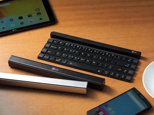 鍵盤能夠這樣折起來?LG 推了這款可折疊固態藍牙鍵盤 LG Rolly